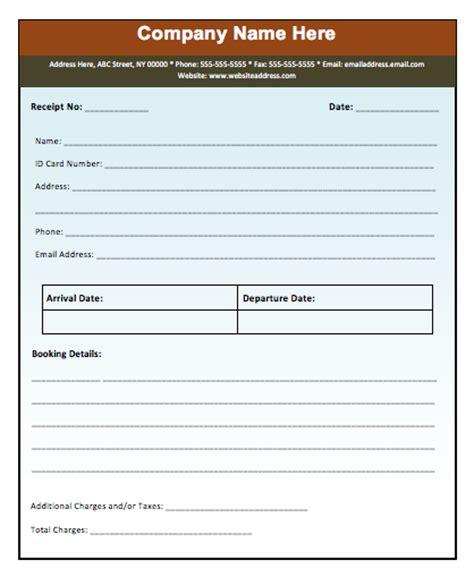 Advance Booking Receipt Template Microsoft Word Templates Booking Template