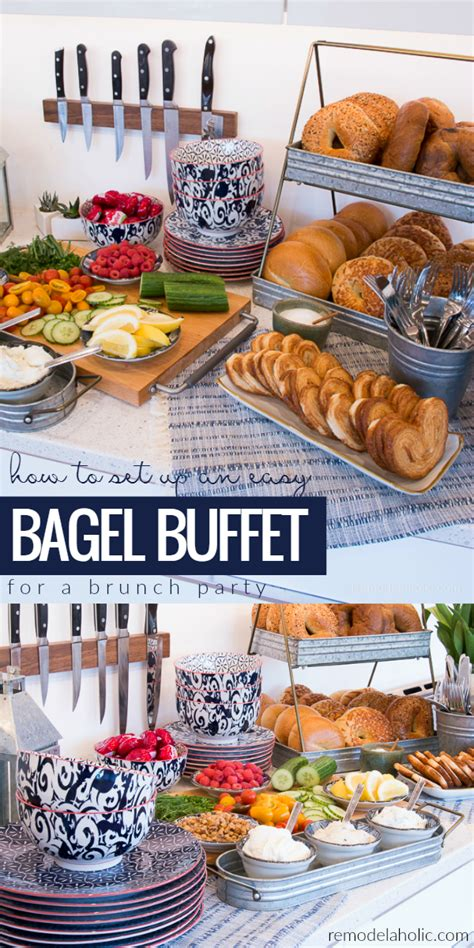 easy breakfast buffet ideas how to set up a and easy bagel buffet for a