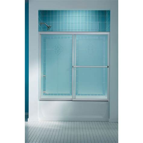 sterling bathtub doors sterling prevail 59 3 8 in x 56 3 8 in framed sliding