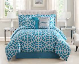white and teal comforter set 7 family teal white print comforter set