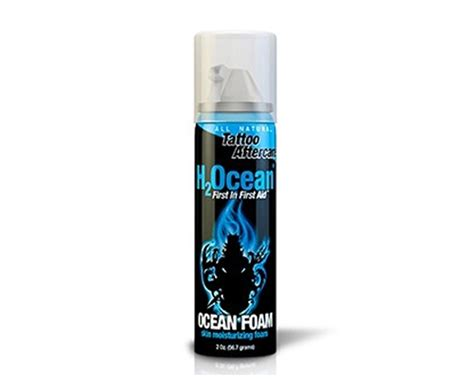 tattoo hypoallergenic lotion ocean foam skin moisturizer h2ocean products soin pour