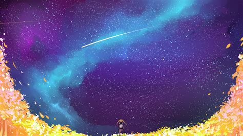 anime themes galaxy y download 1920x1080 anime girl space stars galaxy