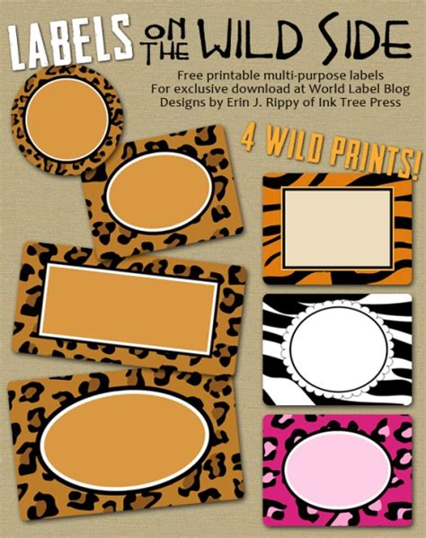 Labels With Wild Cat Prints Zebra Worldlabel Blog Zebra Label Templates