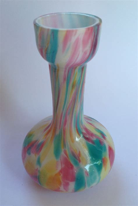 Rainbow Vase by Rainbow Spatter Glass Vase Collectors Weekly