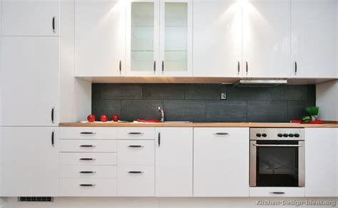 White Kitchen Cupboards Pictures Of Kitchens Modern White Kitchen Cabinets