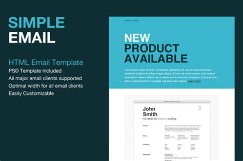 Simple Html Email Templates 14 gmail email templates html psd files free premium templates