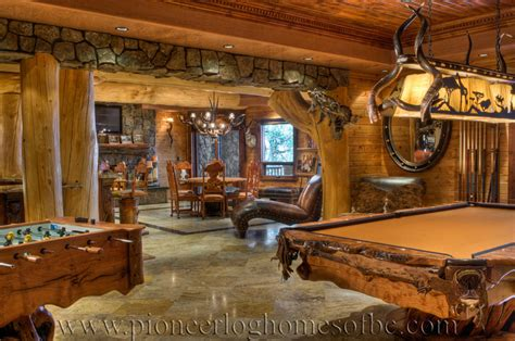 log homes interiors bars and rooms log home and cabin interiors pioneer log homes of bc