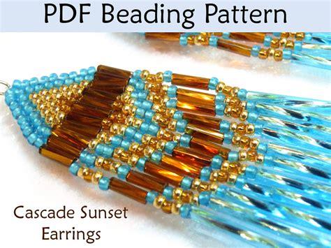 beading brick stitch tutorial beading tutorial pattern earrings brick stitch simple