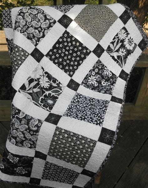 black and white quilts black and white shabby chic quilts