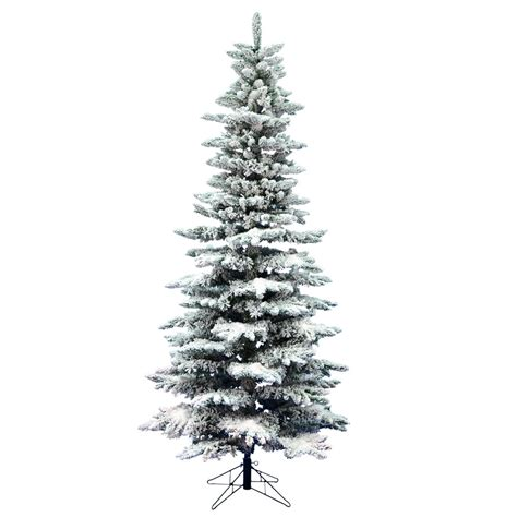 7 5 ft heavy flocked alaskan christmas tree no lights ebay