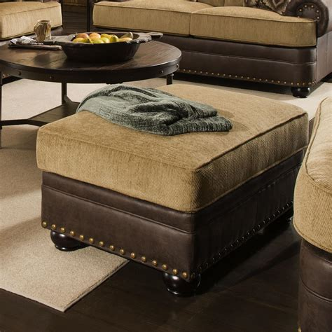 style ottoman simmons upholstery 7541 rustic style chair ottoman with