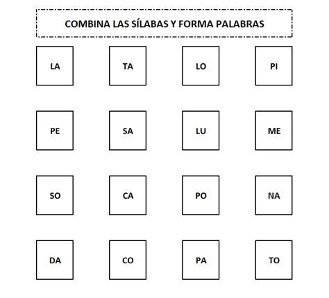 fichas para imprimir para aprender a leer ejercicios de ficha para combinar s 237 labas y formar palabras