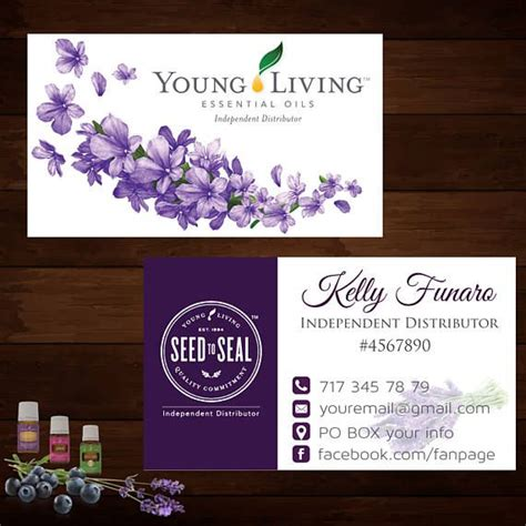 young living business cards young living essential oils