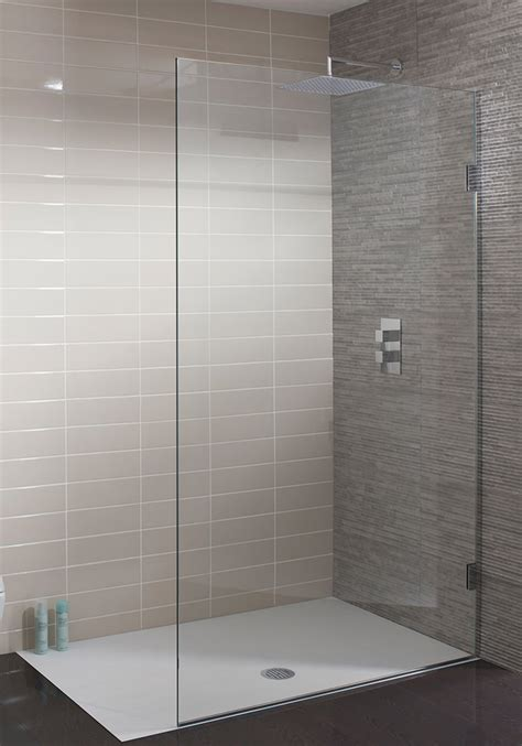 Single Shower Doors Glass Simpsons Ten Frame Less Single Fixed Walk In Panel 1000mm