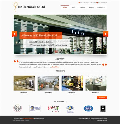 15 Best Free High Quality Psd Website Templates 2016 Designssave Com Free Electrician Website Template