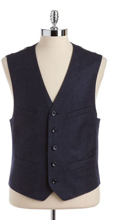 black brown 1826 wool two tone pinstripe vest where to