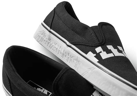 Vans X Metalica metallica x vans collaboration release info sneakernews