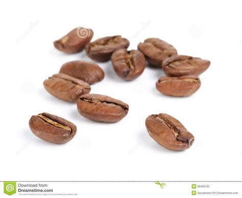 Papa Bean White Coffee brown coffee beans isolated on a white background cutout