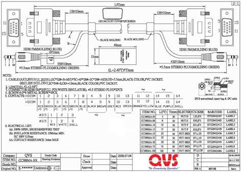 vga wiring diagram colours wiring free printable