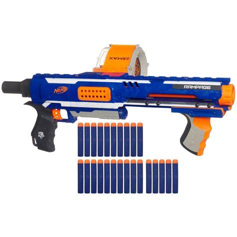 nerf gun nerf n strike elite rage gun 25 foam bullets branded lines