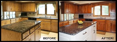 refaced cabinets before and after cabinets matttroy