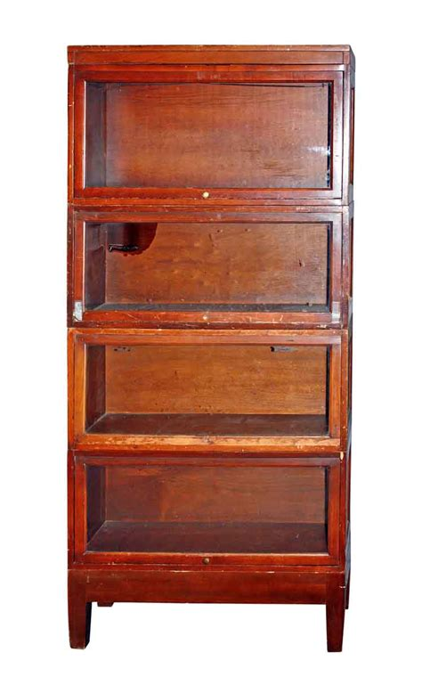 mahogany veneer barrister bookcase olde things