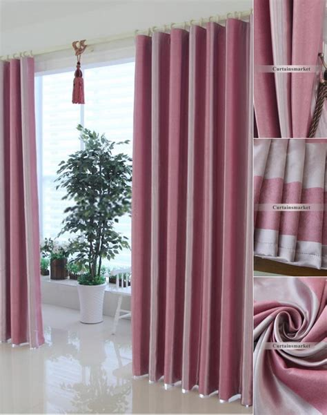 Pink And Gray Curtains Pink Striped Curtains Curtain Menzilperde Net