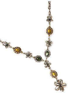 Branded Lucky Brand lucky brand earrings silvertone open drop fashion