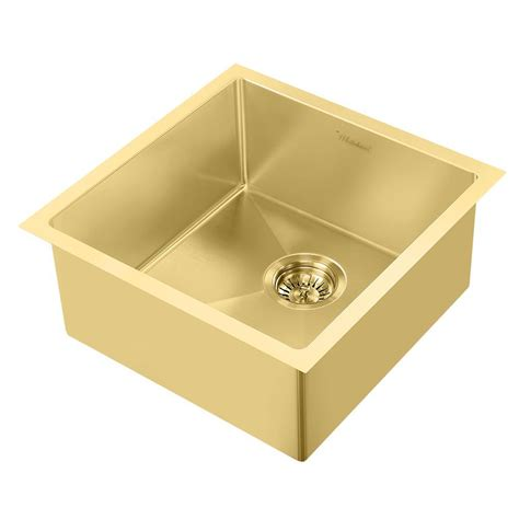 Brass Kitchen Sink by Whitehaus Collection Noah Plus Dual Mount Stainless Steel
