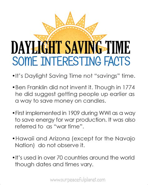 when is day light savings when is daylight savings time printable reminders