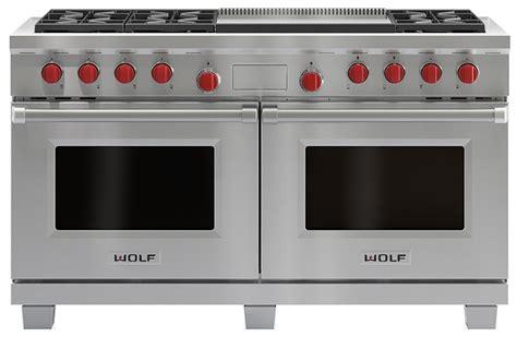 wolf duel fuel range review wolf 60 quot dual fuel double oven range w griddles df606dg