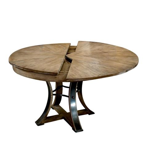 Rustic Wood And Metal Dining Table Rustic Metal And Wood Dining Table Self Storing Leaves