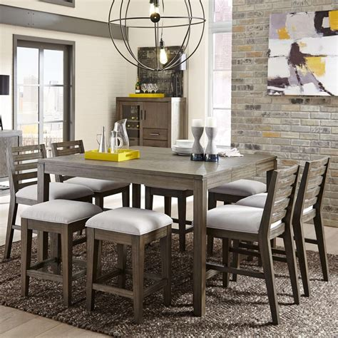 counter height dining room table sets belfort select district 9 counter height dining set