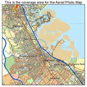 aerial photography map of redwood city ca california