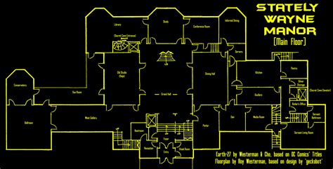 wayne manor floor plan earth 27 s wayne manor ground old by roysovitch on