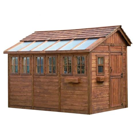 Living In Storage Shed outdoor living today saltbox cedar storage shed common 8 ft x 12 ft
