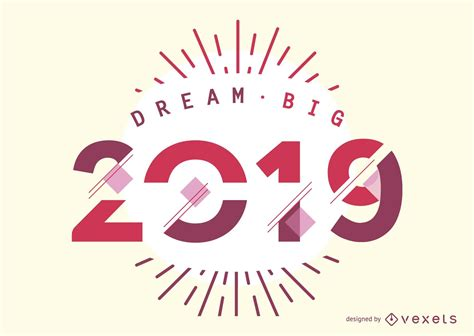 dream big design vector