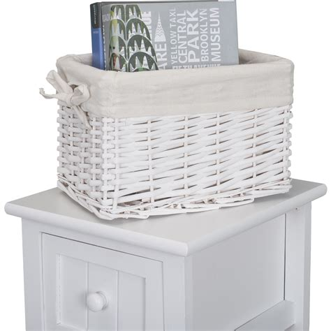 Shabby Chic Bedside Drawers by Shabby Chic White Bedside Home Bedroom Units Tables