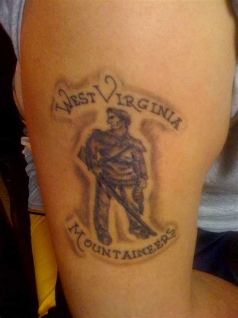 wv tattoos wvu mountaineer