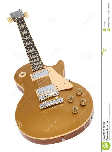 Gitar Guitar Elektrik Electric Gibson Les Paul Top Costum electric guitar gibson les paul gold top stock image image 7373767