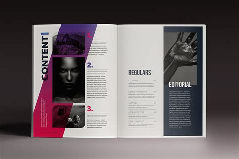 gradient magazine indesign template magazine templates
