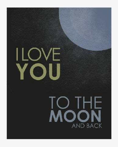 I Love You To The Moon And Back Grey Blue Yellow Vintage I You To The Moon And Back Nursery Decor