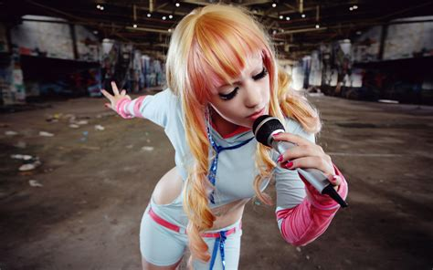 wallpaper girl cosplay music cosplay girl wallpaper