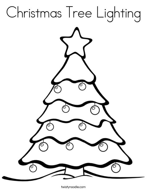 christmas tree clipart coloring page christmas tree lighting coloring page twisty noodle