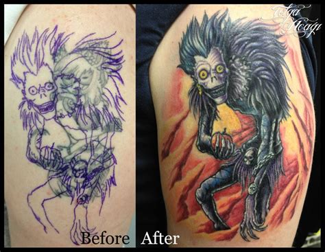 death note tattoo design ryuk by tokmakhan on deviantart