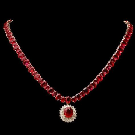 Ruby 12 15ct 14k gold 101ct ruby 2 15ct necklace
