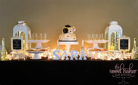 black and gold table cakes thenovelbaker