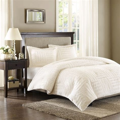 faux fur bedding set ivory polar brushed faux fur comforter mini set twin 2pc target