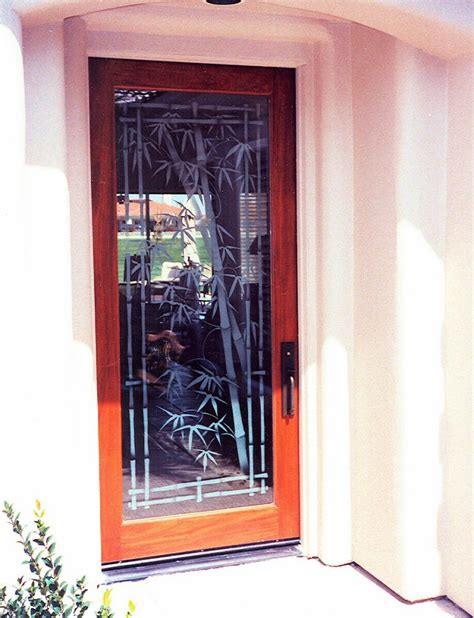 Bamboo Entry Door Glass Inserts Sans Soucie Door Glass Insert