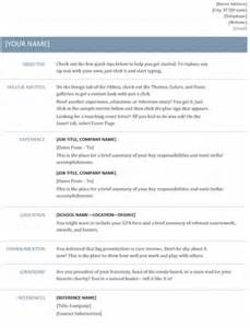 General Resume Template Microsoft Word by Basic Resume Template Version 1